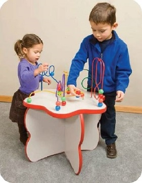 Flower Top Wire & Beads Activity Table